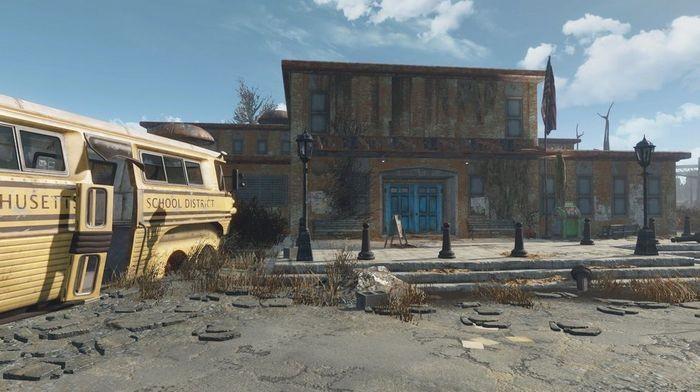 Частная школа округа саффолк | fallout 4 | карта