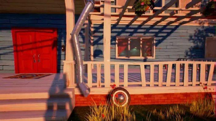 Как найти красный ключ и открыть подвал в hello neighbor