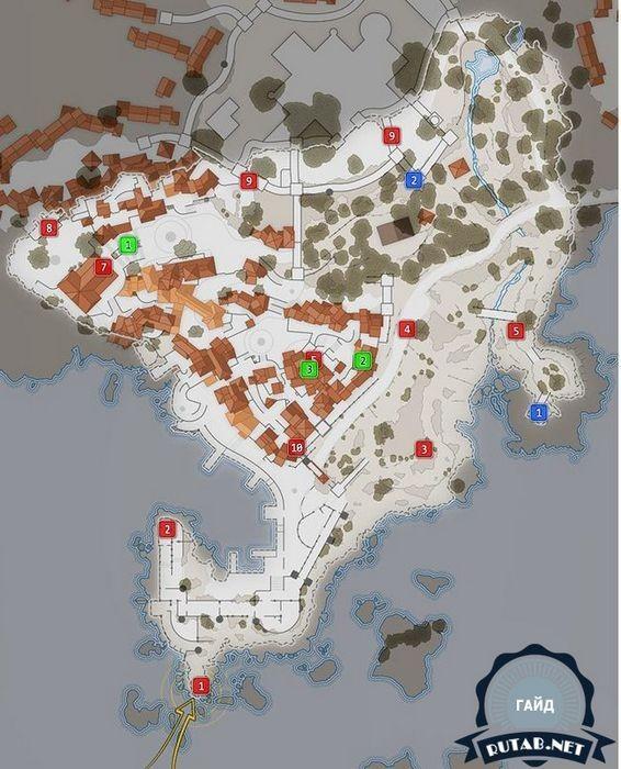 Карта   миссия 2: деревня битанти