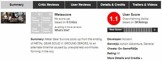 Metal gear survive – первые оценки и отзывы