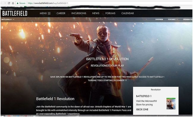 На сайте battlefield 1 засветилась дата выхода дополнения turning tides