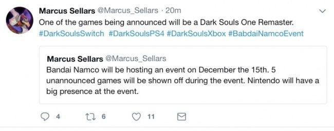 Первый dark souls может получить обновленную версию