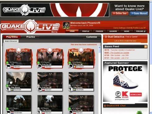 Quake live: превью