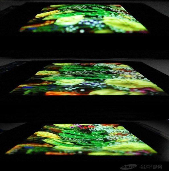 Samsung создала растягивающийся дисплей
