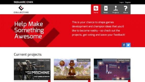 Square enix открывает краудфандинговый сервис collective