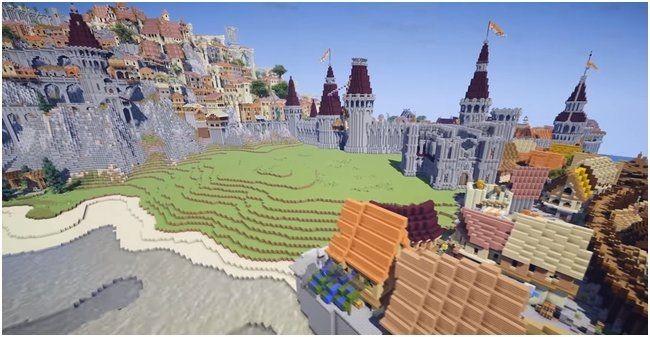 В minecraft создали новиград из «ведьмака 3»